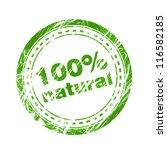 100  natural green stamp   Shutterstock .eps vector #116582185