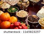 traditional korean cuisine  | Shutterstock . vector #1165823257