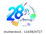 28th years anniversary logo ... | Shutterstock .eps vector #1165824727