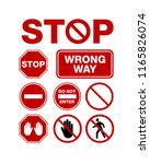 stop no enter sign for private... | Shutterstock .eps vector #1165826074