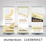 food   restaurant roll up... | Shutterstock .eps vector #1165840417