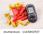 watermelon  glucose meter with... | Shutterstock . vector #1165842937