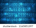 binary code  mean password  on... | Shutterstock . vector #1165851397