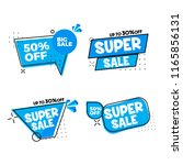 set of flat design sale... | Shutterstock .eps vector #1165856131