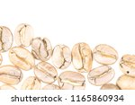 coffee beans isolated with soft ... | Shutterstock . vector #1165860934