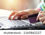 online shopping concept . women ... | Shutterstock . vector #1165862227