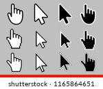 white arrow and pointer hand... | Shutterstock .eps vector #1165864651