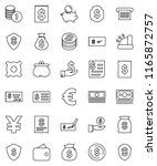 thin line vector icon set  ... | Shutterstock .eps vector #1165872757
