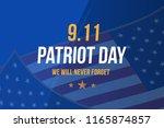 patriot day september 11. 2001... | Shutterstock .eps vector #1165874857