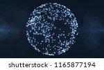 blockchain network concept... | Shutterstock . vector #1165877194