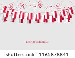 indonesia garland flag with... | Shutterstock .eps vector #1165878841