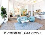 fashionable spacious apartment...   Shutterstock . vector #1165899934