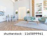 fashionable spacious apartment... | Shutterstock . vector #1165899961