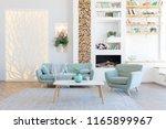 fashionable spacious apartment...   Shutterstock . vector #1165899967