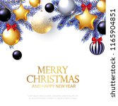 merry christmas background with ... | Shutterstock .eps vector #1165904851