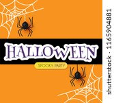 halloween design template with... | Shutterstock .eps vector #1165904881