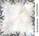 shiny christmas background with ... | Shutterstock .eps vector #116590594