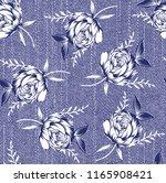 denim flower pattern | Shutterstock .eps vector #1165908421