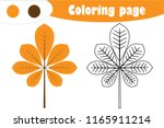 chestnut leaf in cartoon style  ...   Shutterstock .eps vector #1165911214