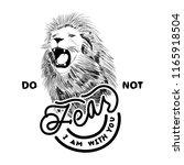 the lion do not fear | Shutterstock .eps vector #1165918504