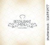 restaurant menu design | Shutterstock .eps vector #116591977