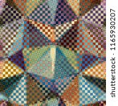 geometric abstract symmetric... | Shutterstock .eps vector #1165930207