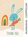 cool vector card por poster... | Shutterstock .eps vector #1165931164
