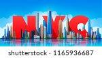 new york skyline. vector... | Shutterstock .eps vector #1165936687