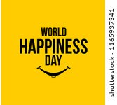 world happiness day design... | Shutterstock .eps vector #1165937341