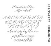 hand drawn typeface set... | Shutterstock .eps vector #1165937584