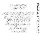 hand drawn typeface set...   Shutterstock .eps vector #1165937584