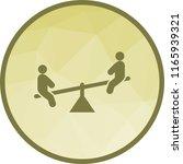 sitting on seesaw   Shutterstock .eps vector #1165939321