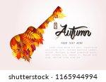 autumn music festival  paper... | Shutterstock .eps vector #1165944994