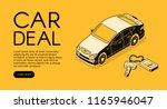 car trade deal vector... | Shutterstock .eps vector #1165946047