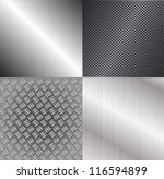 set of metallic backgrounds | Shutterstock .eps vector #116594899
