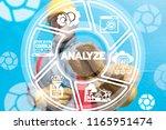 engineer clicks a analyze word... | Shutterstock . vector #1165951474