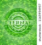eternal green emblem with... | Shutterstock .eps vector #1165954957