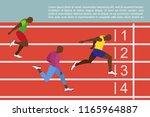running men profile picture....   Shutterstock .eps vector #1165964887