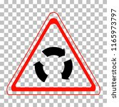 traffic signs. road signs. high ... | Shutterstock .eps vector #1165973797