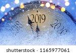 countdown to midnight. retro... | Shutterstock . vector #1165977061