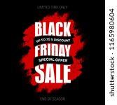 black friday sale inscription... | Shutterstock .eps vector #1165980604