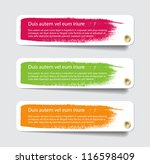 three vector paper tags  ... | Shutterstock .eps vector #116598409