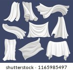 flat vector set of white cloth. ... | Shutterstock .eps vector #1165985497