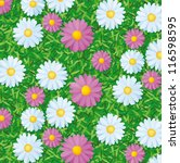 pattern with flowers - stock vector