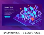 smart city vector illustration... | Shutterstock .eps vector #1165987231