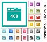 browser 400 bad request flat... | Shutterstock .eps vector #1165992607