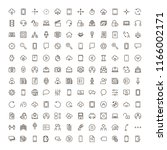 info icon set. collection of... | Shutterstock .eps vector #1166002171