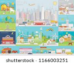 collection of colorful line art ... | Shutterstock .eps vector #1166003251