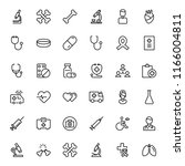 cancer icon set. collection of... | Shutterstock .eps vector #1166004811