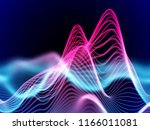 big data abstract visualization ... | Shutterstock .eps vector #1166011081